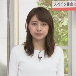【スーパーJチャンネル】テレ朝林美沙希アナのスレンダーときどきクビレニット【アラサー癒し系】