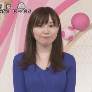 【おはよん代打】気象予報士岡田沙也加さんのアラサームチムチクビレニット!【JNNニュース】