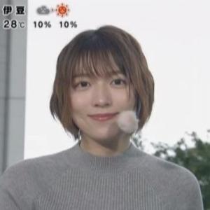 【めざましテレビ】お天気キャスター阿部華也子アナのムチムチクビレニット!【隠れ巨乳】