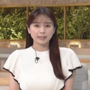 【WBS】テレ東角谷暁子アナのムチムチクビレニット巨乳【番組では久々!?】