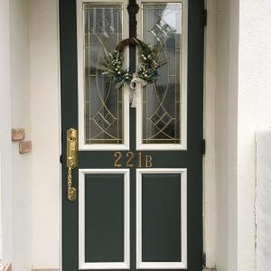 玄関ドア、塗り直し