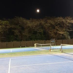 お月見テニスとラケット購入