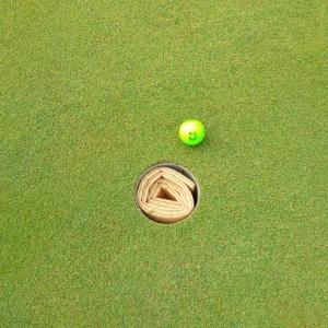 やっとゴルフに♪
