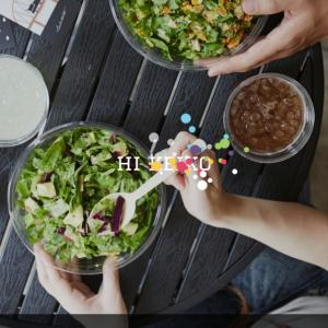 アプリからサラダをオーダーしてみました