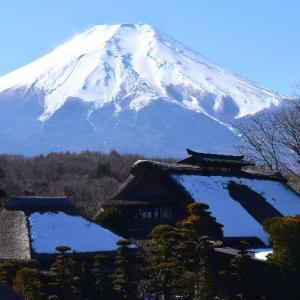 忍野八海からの富士山☆白鳥の湖「山中湖」