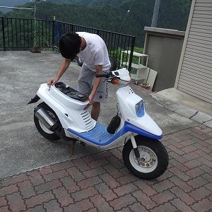 キュートなバイクがやってきた!