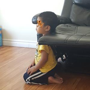 3歳児のテレビ鑑賞スタイル