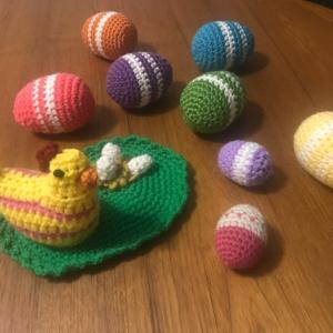 *Easterに向けて編んだモノたち*