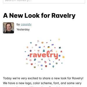*編み物サイトravelryが新しくなりました*