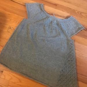 *リネン糸ポンデュガールで編むサマーセーターCascata~編みあがりました*