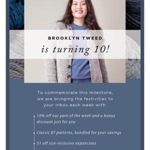 *Brooklyn Tweed10周年記念セール、Shelter毛糸&パターン*