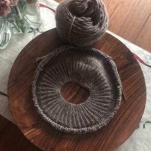 *編み物と雪と甘いモノ*