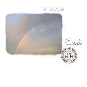 **rainbow**2020/7/26ごはんを食べようと思ったら虹が見えた!...