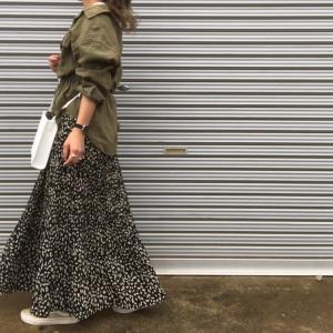 大人も履けるレオパード柄のスカート!