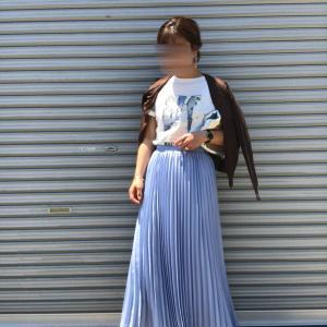 女っぽスカートにサンダルが好き!