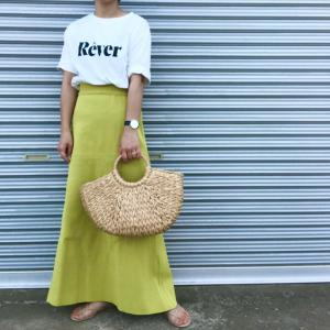 憧れブロガーさんも着てた大人も着られるカラースカート♡