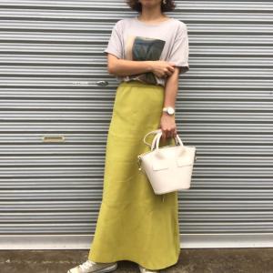 暑い日でも履けるニットスカート!