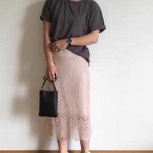 レーススカートはカジュアルに着るのが好き/半額の小顔マッサージアイテム!