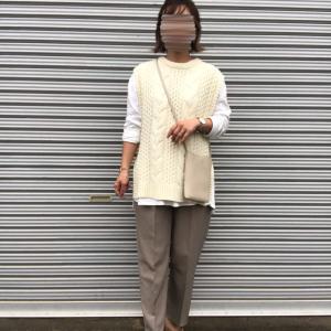 【しまむら】美シルエットな秋パンツで淡色コーデ!