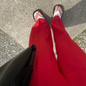低身長でもぴったりで履けたカラーパンツ!