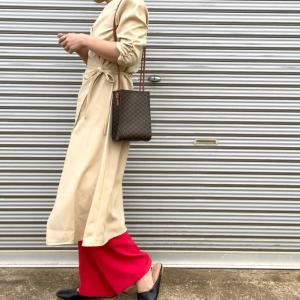 赤パンツの着まわしコーデ!