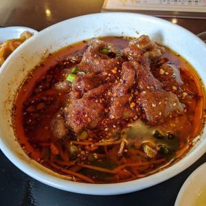 みなとみらい 中国料理 天府城 牛肉の薄切りの山椒辛子煮