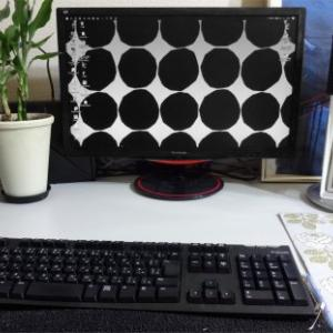 ★ソファーをmarimekko Kivetに変えたので・デスクトップも Kivetに変更(手描き)
