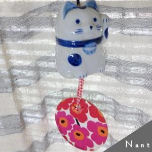 ★marimekko+😺風鈴と 手作りmarimekkoコースターとか ( Φ ω Φ )