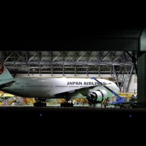 夜間作業  B777  日本航空(JL)
