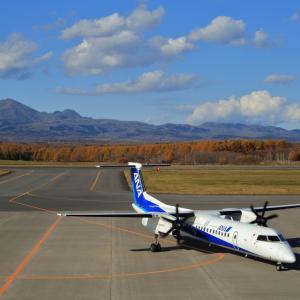 方向転換  DHC-8  ANAウイングス (EH)