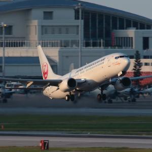離陸  B737  日本トランスオーシャン航空(NU)