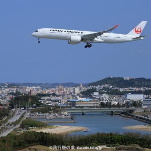 3月の青空  A350  日本航空(JL)