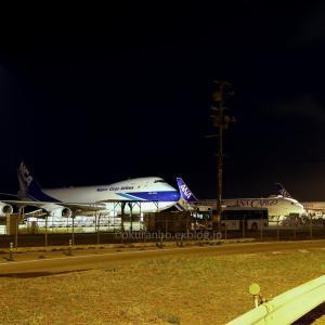 3時の貨物機  B747  日本貨物航空(KZ)