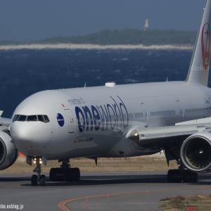 ワンワさんのリバース  B777  日本航空(JL)