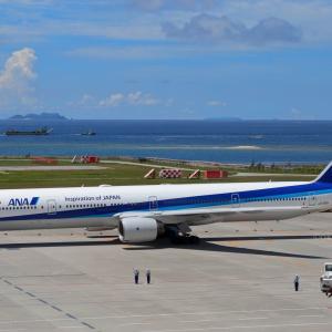 沖縄の普通の出発  B777  全日空(NH)