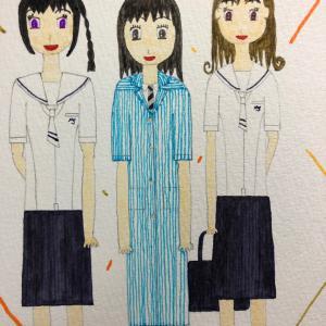 武蔵野女子学院高校・光塩女子学院夏服 真壁愛良・ココ=ティナ=ウォーレンサー・神谷夢々