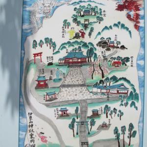 熱海の伊豆山神社で波の伊八作品巡りは終了