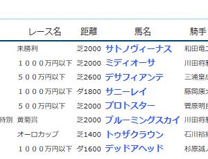 POG&応援馬結果(11/9・11/10)