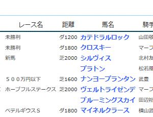 POG&応援馬結果(12/28)