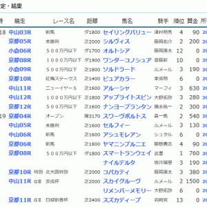 POG&応援馬結果(1/18・1/19)