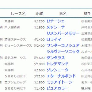 POG&応援馬結果(6/12・6/13)