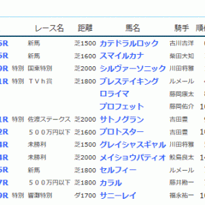 POG&応援馬結果(7/27・7/28)