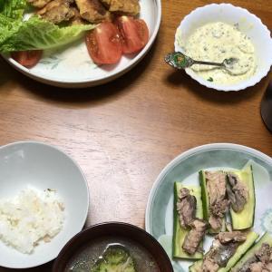 今日の晩御飯と土日の活動