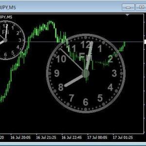 MT4 アナログ時計を少し修正