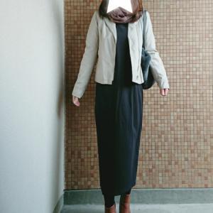 ママコーデ*フェイクレザージャケットでワンピコーデ♡冬ブーツが2000円OFF!?