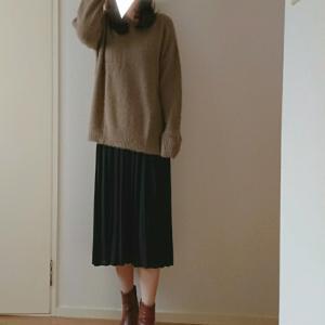coordinate☆シンプルファーニットで冬の装い♡今年もブーツの季節がやってきた!
