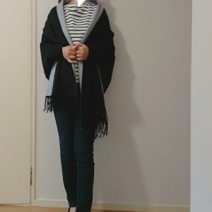 coordinate*ストール風カーデを防寒に♥初イヤカフはプチプラ可愛いパールライン♥