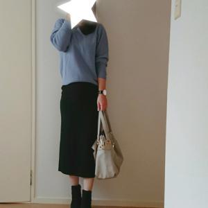 coordinate*UNIQLO♡綺麗色3Dニットと美脚リブタイトスカート♡