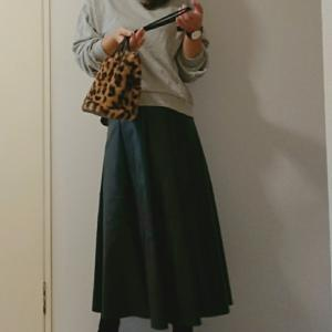 coordinate☆プリーツタイプも追加されてたプチプラエコレザースカート♡