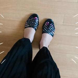 coordinate★立体ロゴ刺繍Tとトレンド編みサンダル♡週末限定セールもpick up♡